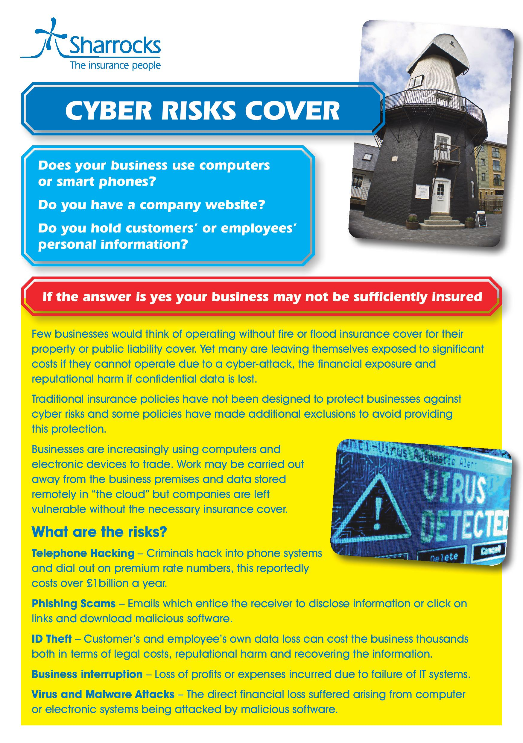 Sharrocks' Guide to Cyber Risks Cover page 1