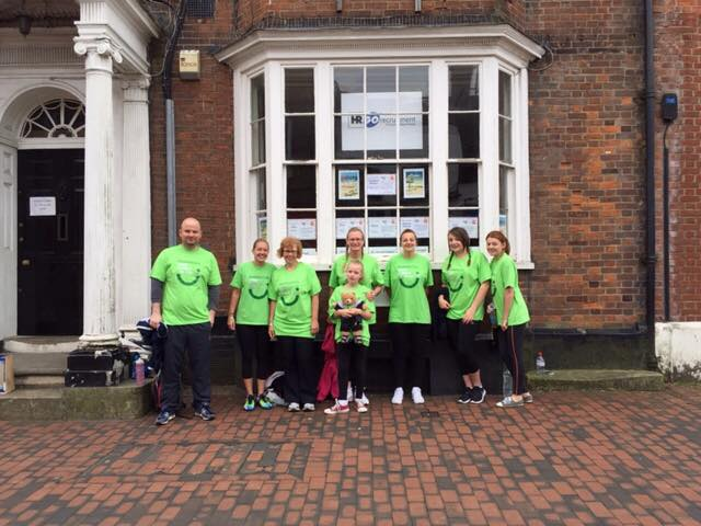 Start of our 45th Anniversary Charity Walk outside Brenchley House Sittingbourne