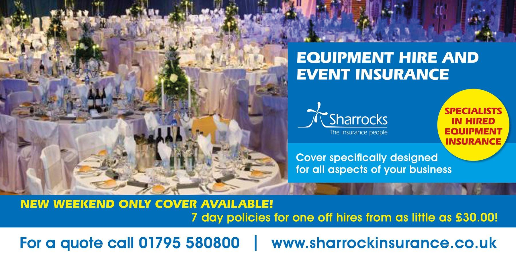 Event Insurance Quote Short Term Hire Insurance  Sharrocks