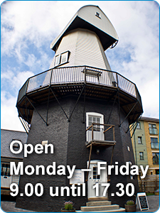 Open Monday - Friday 9.00 until 17.30
